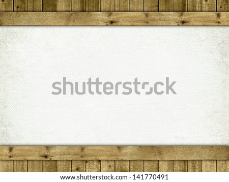 Background - blank sheet and planks