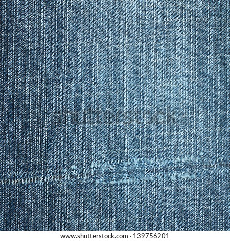 Background blue jeans - stock photo