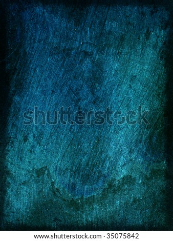 Background blue rough wood texture with scratches with space for text or image - stock photo