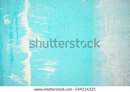 background blue walls, white paint