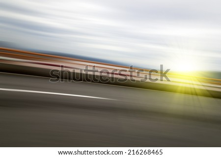 Background blur road  - stock photo
