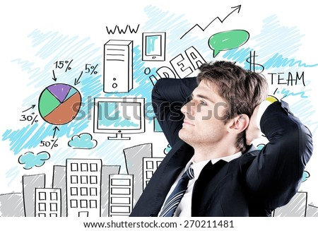 Background, boss, brainstorming. - stock photo