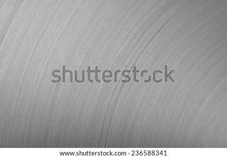 background brushed aluminum metallic plate  - stock photo
