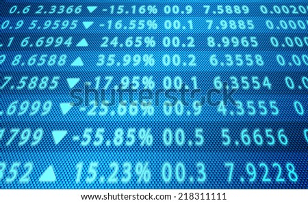 Background business, abstract image of a computer screen of abstract stock market data - stock photo