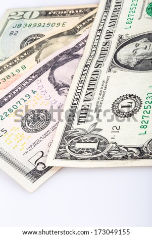 background by dollars - stock photo