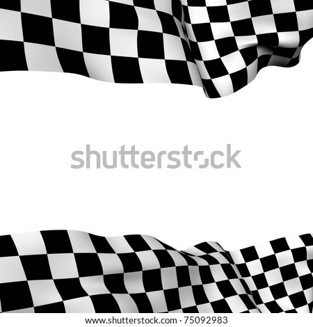 Background checkered flag with  space for your text - stock photo