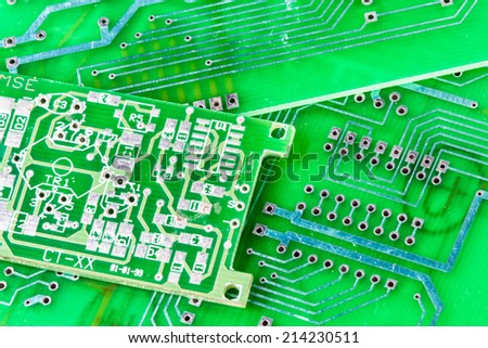 Background circuit boards - stock photo