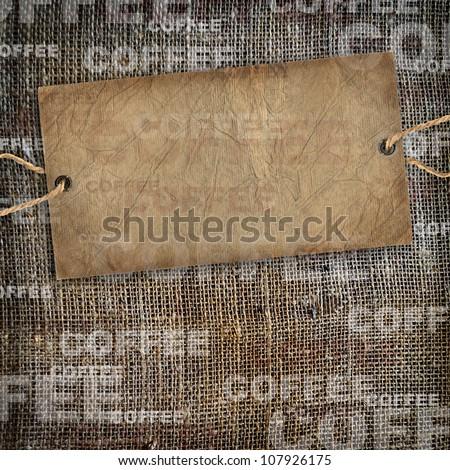Background coffee texture vintage burlap - stock photo