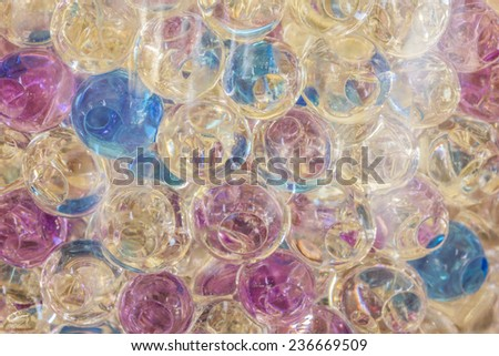 Background color of the hydrogel beads - stock photo