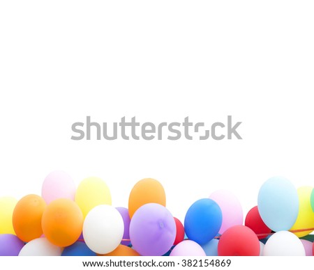 Background colorful balloons on a white background. - stock photo