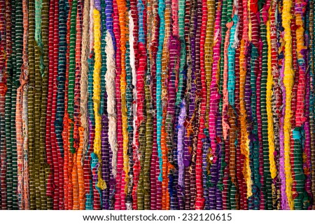 background colorful folklore material striped textile traditional folk