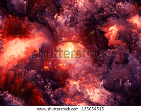 Background composition of  dreamy forms and colors to complement your layouts on the subject of dream, imagination, fantasy and abstract art - stock photo