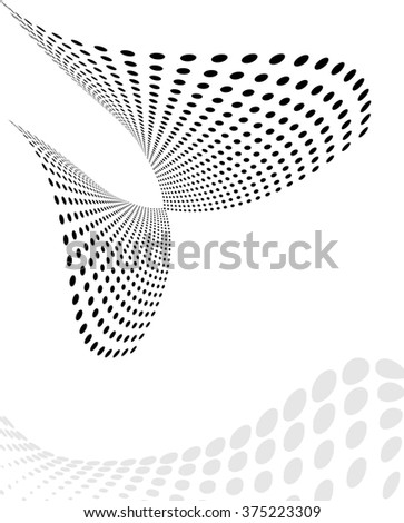 Background Composition, Web Template (Halftone) Raster Art - stock photo