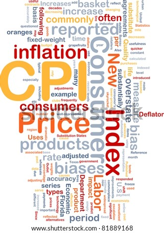 Background concept illustration Consumer Price Index