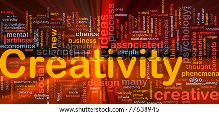 Background concept illustration Creativity creative mental glowing light - stock photo