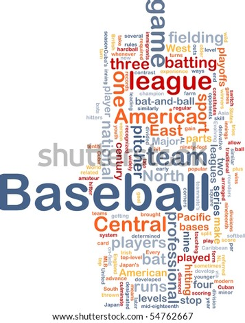 Background concept illustration of business baseball sports - stock photo