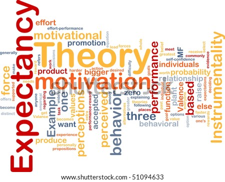 Background concept illustration of business expectancy theory - stock photo