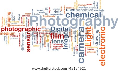 Background concept illustration of digital camera photography