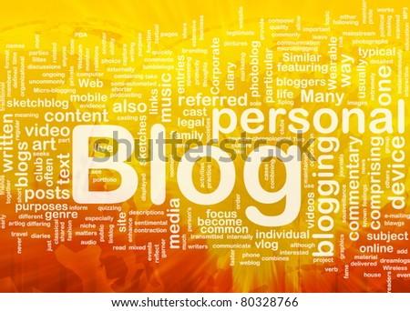 Background concept illustration of internet web blog international - stock photo