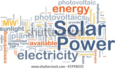 Background concept illustration of solar power energy - stock photo