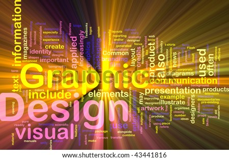 Background concept illustration of visual graphic design glowing light
