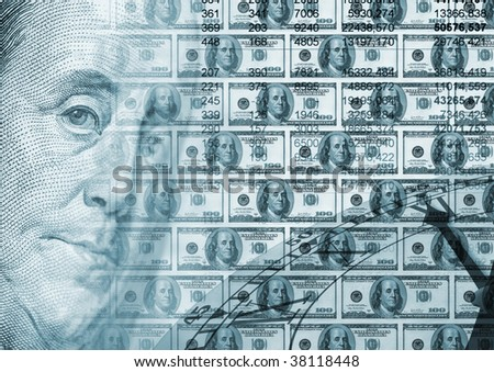 Background concept - Time money - stock photo