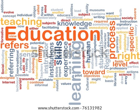 Background concept wordcloud illustration of education - stock photo