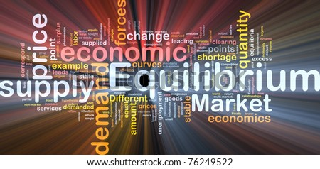 Background concept wordcloud illustration of equilibrium glowing light - stock photo