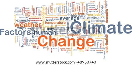Background concept wordcloud illustration of global climate change