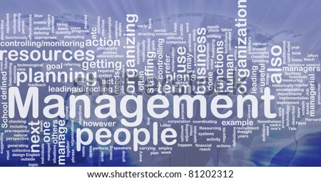 Background concept wordcloud illustration of management international - stock photo