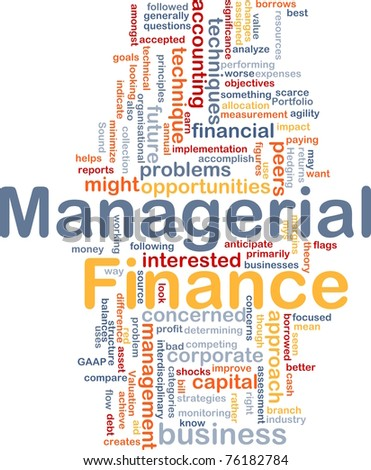 Background concept wordcloud illustration of managerial finance