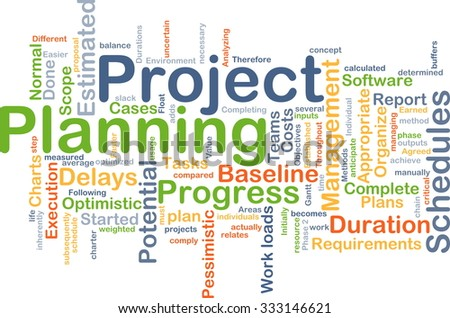 Background concept wordcloud illustration of project planning - stock photo