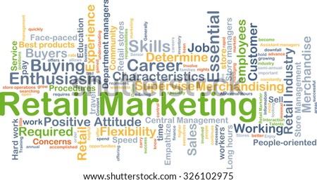 Background concept wordcloud illustration of retail marketing