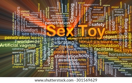 Background concept wordcloud illustration of sex toy glowing light - stock photo