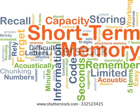 Background concept wordcloud illustration of short-term memory