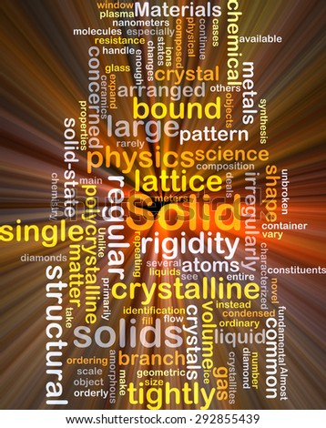 Background concept wordcloud illustration of solid glowing light