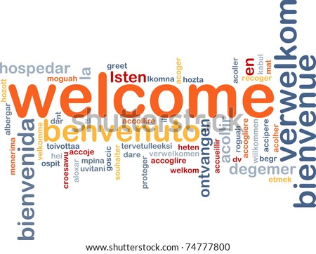 Spanish words stock images royalty free images vectors background concept wordcloud illustration of welcome different languages stopboris Image collections