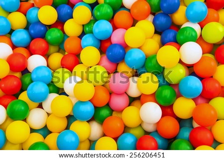 Background consisting of balls of different bright colors