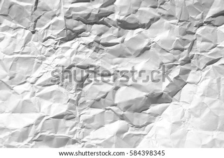 Background crumpled paper white