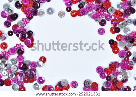 Background decorated  with sequins- decoration - stock photo