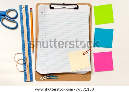 Background depicting organizing for a project - stock photo