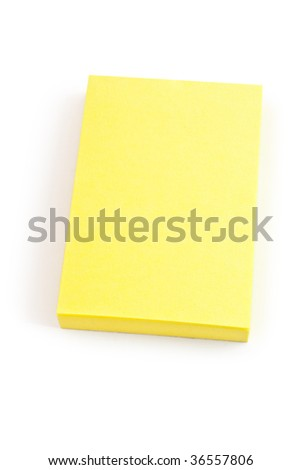 background design. blank yellow post-it note on white