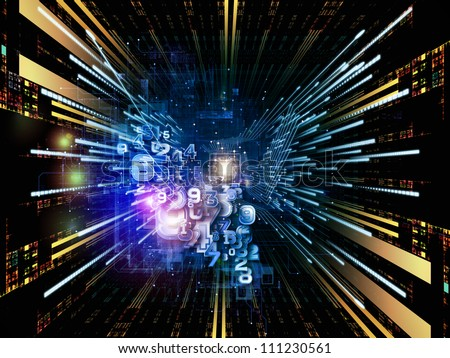 Background design of CPU graphic and abstract design elements on the subject of digital equipment, computing and modern technologies