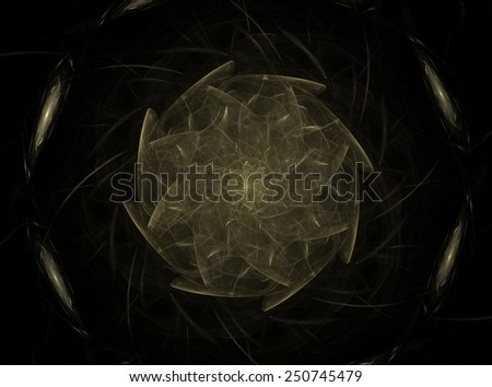 Background design of decorative shapes and fractal elements on the subject of design, imagination and creativity - stock photo