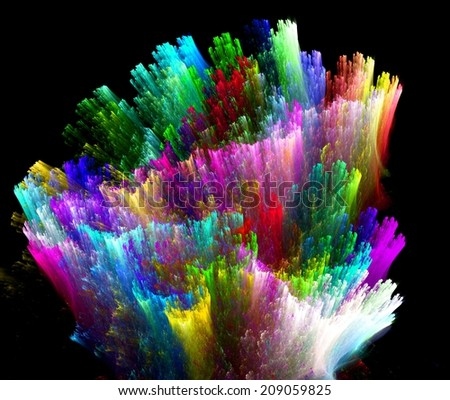 Background design of dreamy forms and colors on the subject of dream,  - stock photo