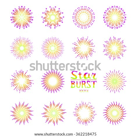 Background design with abstract fireworks and salute. art