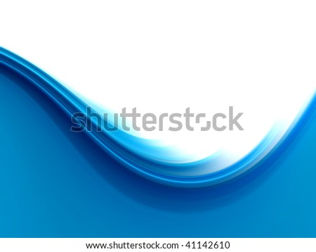 Background design with soft flowing blue border lines