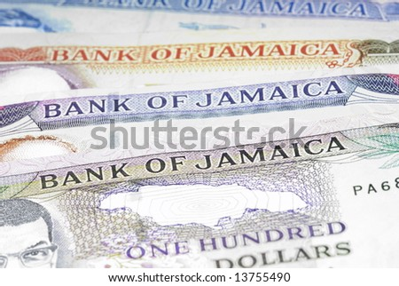 Background - Detail of Jamaica Currencies .