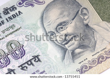 Background Detail of the India Country Money . - stock photo