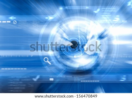 Background digital image with binary code. Technology concept - stock photo